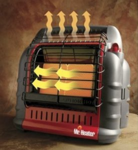 how do propane heaters work